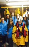 Crieff Guides visiting an RNLI station in Ireland