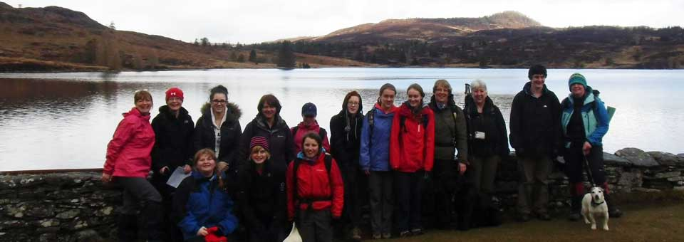 A walk to Loch Ordie with Forfar Guides, leaders and a four legged friend